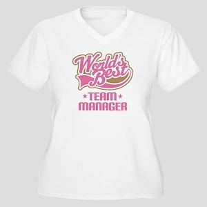 Team Manager Women's Plus Size V-Neck T-Shirt