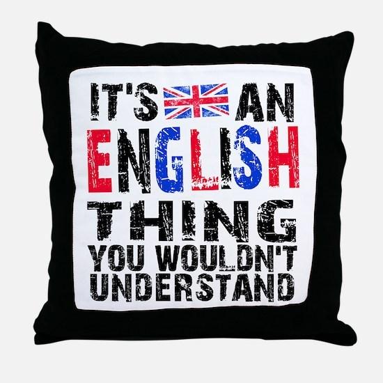 English Thing Throw Pillow