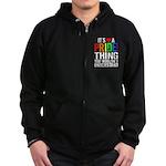 Pride Thing Zip Hoodie (dark)
