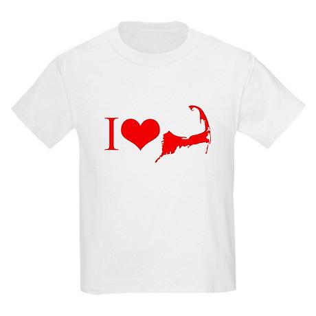 I Love Cape Cod Kids Light T-Shirt