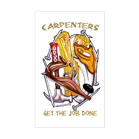 Carpenters Get the Job Done Rectangle Sticker