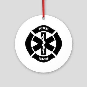 Fire & EMS Ornament (Round)