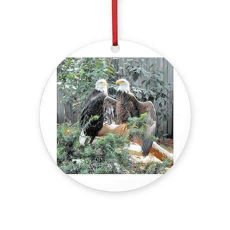 Bald Eagles in the Sun Ornament (Round)