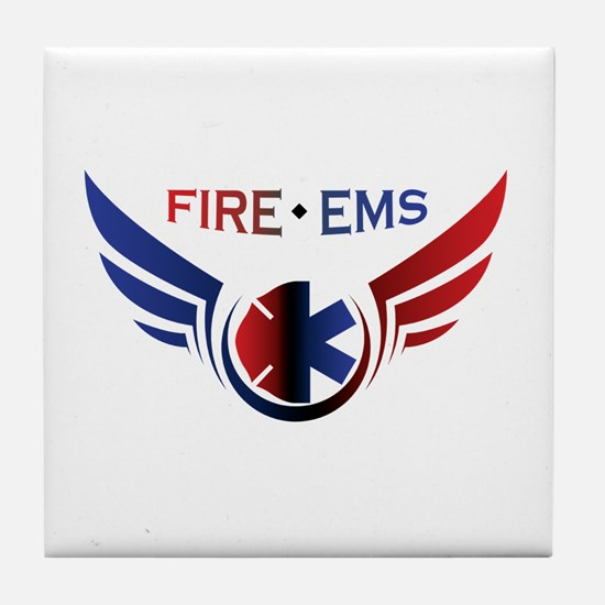 Flying Fire & EMS Tile Coaster