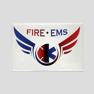 Flying Fire & EMS Rectangle Magnet