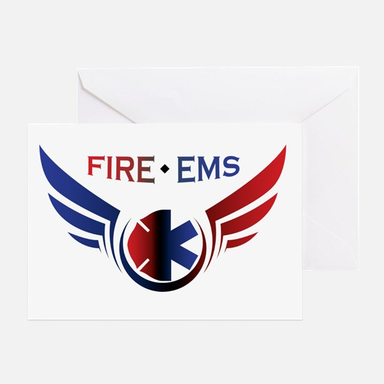 Flying Fire & EMS Greeting Card