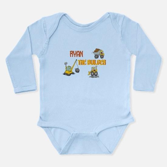 Ryan the Builder Long Sleeve Infant Bodysuit