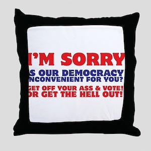 Vote Damnit! Throw Pillow