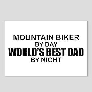 World's Greatest Dad - Mountain Biker Postcards (P