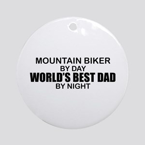 World's Greatest Dad - Mountain Biker Ornament (Ro