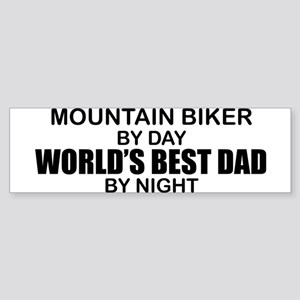 World's Greatest Dad - Mountain Biker Sticker (Bum
