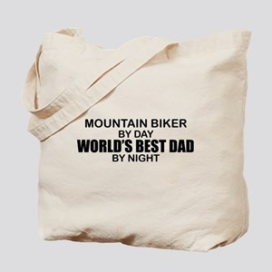 World's Greatest Dad - Mountain Biker Tote Bag