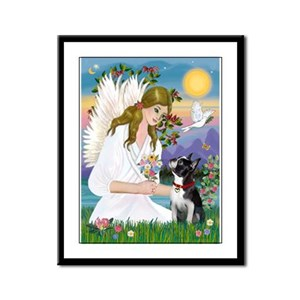 Mandolin Angel & Maltese Framed Panel Print