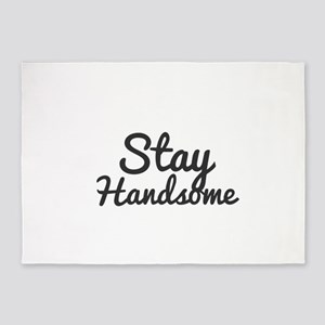 Stay Handsome 5'x7'Area Rug