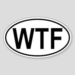 WTF Sticker (Oval)