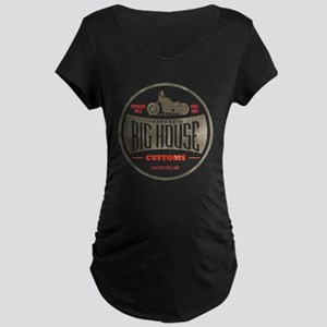 VINTAGE BIKER Maternity Dark T-Shirt