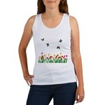 Tulip Flowers and Butterflies Women's Tank Top