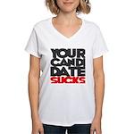 JEFF'S STORE Women's V-Neck T-Shirt