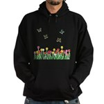 Tulip Flowers and Butterflies Hoodie (dark)