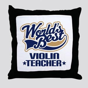 Violin Teacher Throw Pillow