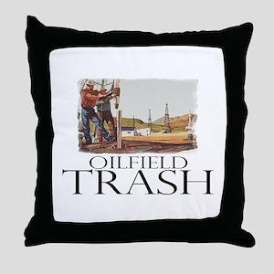 Oilfield Trash Throw Pillow