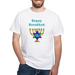 Happy Hanukkah White T-Shirt