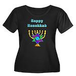 Happy Hanukkah Women's Plus Size Scoop Neck Dark T
