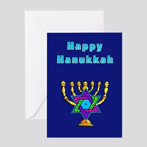 Funny hanukkah greeting cards cafepress happy hanukkah greeting card m4hsunfo