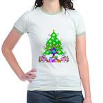 Christmas and Hanukkah Jr. Ringer T-Shirt
