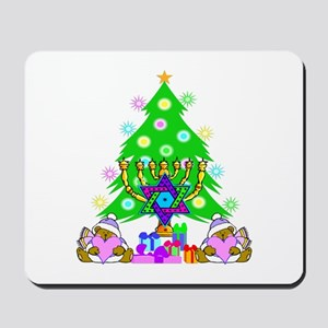 Christmas and Hanukkah Mousepad