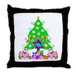 Christmas and Hanukkah Throw Pillow