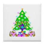 Christmas and Hanukkah Tile Coaster