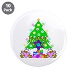 """Christmas and Hanukkah 3.5"""" Button (10 pack)"""