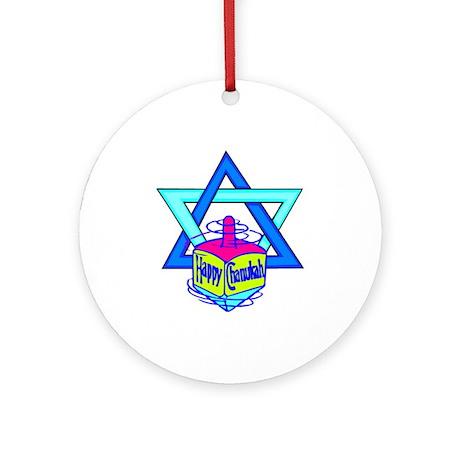Hanukkah Oh Chanukah Ornament (Round)