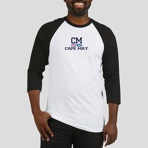 Cape May NJ - Nautical Design Baseball Jersey