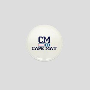Cape May NJ - Nautical Design Mini Button