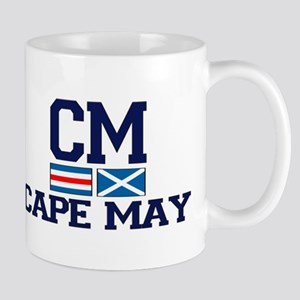 Cape May NJ - Nautical Design Mug