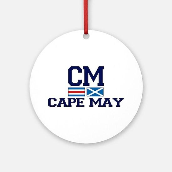 Cape May NJ - Nautical Design Ornament (Round)