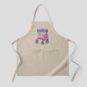 Hanukkah Dreidel Cat Apron