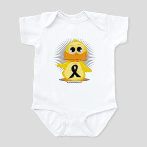 Black Ribbon Duck Infant Bodysuit