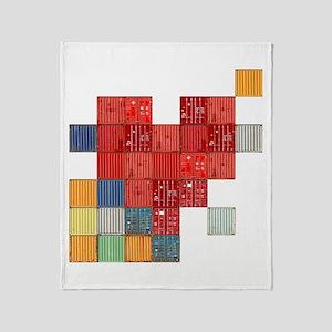 Shipping Love Throw Blanket