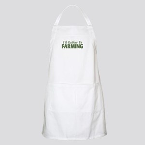 Id Rather Be Farming SOLID Apron