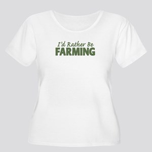 Id Rather Be Farming SOLID Women's Plus Size Scoop