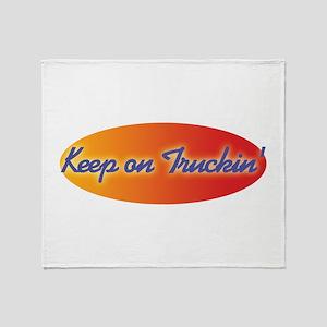 Retro Keep On Truckin Throw Blanket
