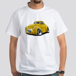 1941 Willys Yellow Car White T-Shirt