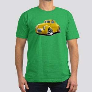 1941 Willys Yellow Car Men's Fitted T-Shirt (dark)