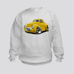 1941 Willys Yellow Car Kids Sweatshirt