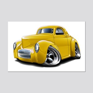 1941 Willys Yellow Car Mini Poster Print