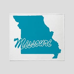 State Missouri Throw Blanket