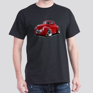 1941 Willys Red Car Dark T-Shirt